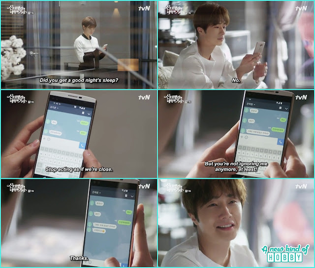 ha won and ji won text messaging  - Cinderella and Four Knights - Episode 7 Review - I Love Her, I Love Her Not