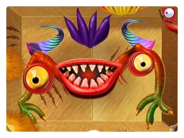 Image showing mixed up monster from the App Crazy Monster Mixer by Hot Frog Graphics