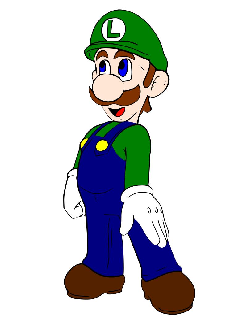 Dibujos Para Colorear Pintar Imprimir Luigi