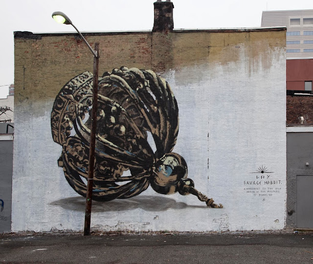 New Street Art Mural By LNY For Savage Habbit On The Streets Of Jersey City, USA. 1