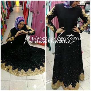 baju dinner tema blink blink hitam gold