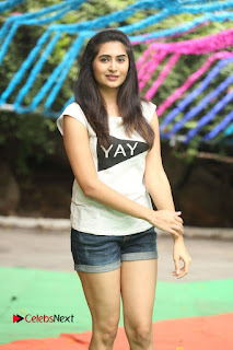 Vyoma Nandi  Pictures in Shorts at Haritha Haram Event ~ Celebs Next