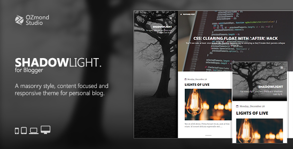Download ShadowLight: A Theme for Personal Blogging | premium ...