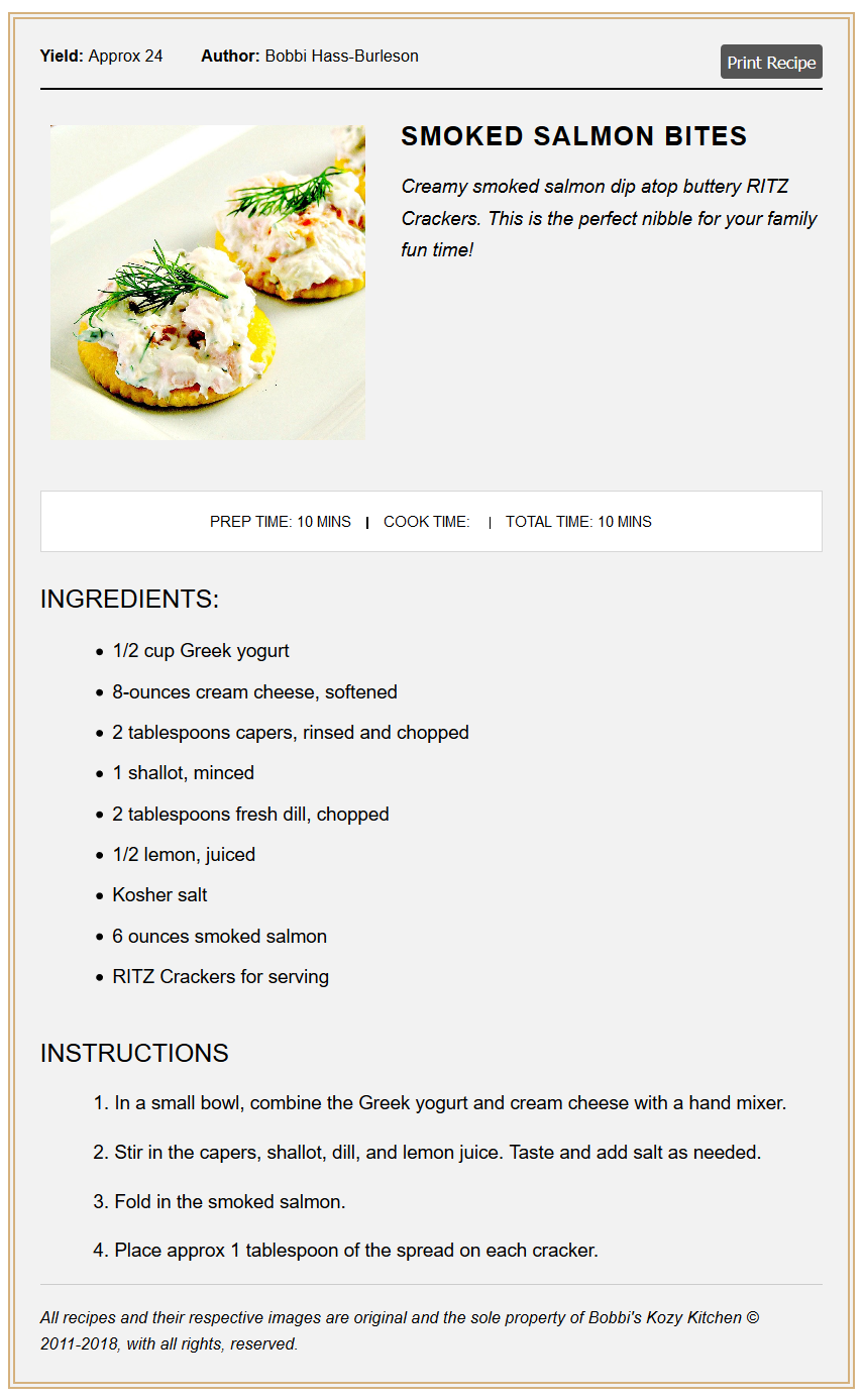 Printable Google Friendly Recipe Cards For Squarespace And Blogger