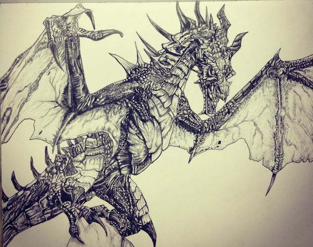 Artwork - Pulkit Khanna Dragon Alduin Completed