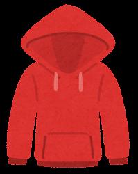 パーカーのイラスト(赤)
