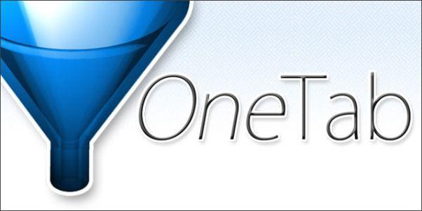 OneTab, administra tus pestañas en Google Chrome.