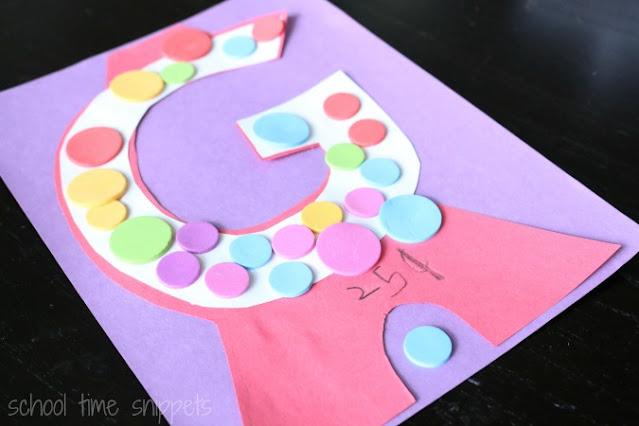 g craft for preschoolers