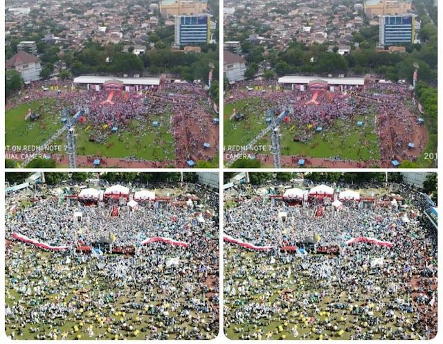 Perbedaan Mencolok Massa Kampanye 01 dan 02 di Kampung Jokowi