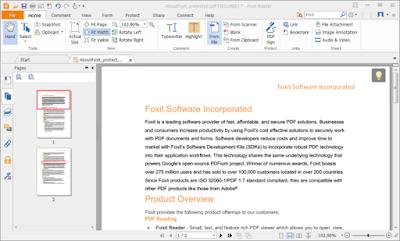 Foxit Reader, Una excelente herramienta para poder leer