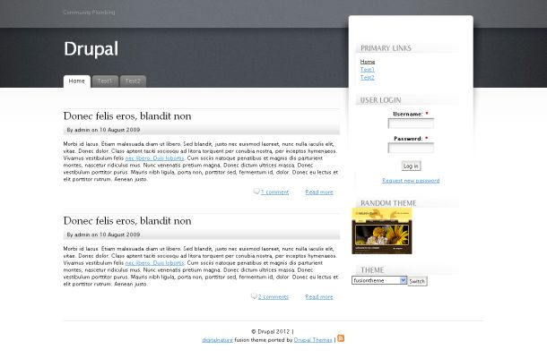 Free Gray Business Drupal Style Theme Template