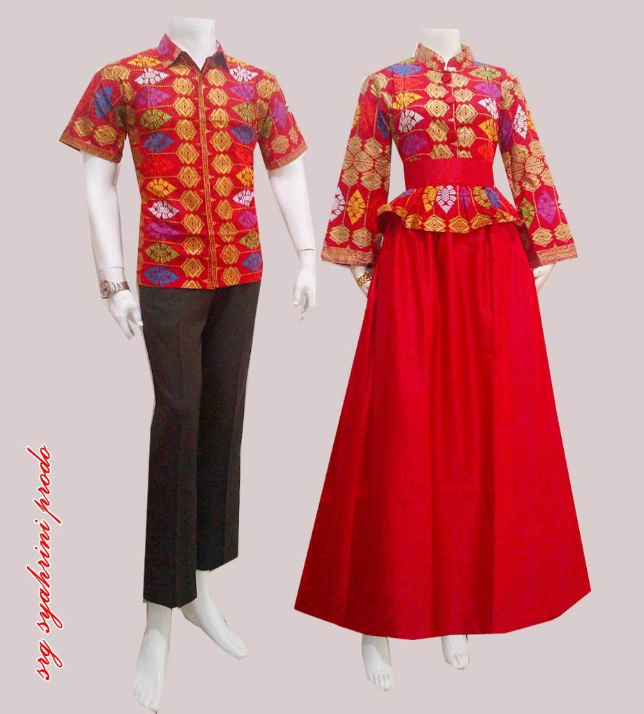 Baju Sarimbit Gamis Batik Syahrini Prodo Batik Bagoes Solo