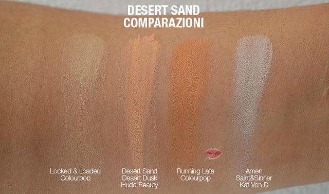swatch dupe desert sand huda beauty desert dusk