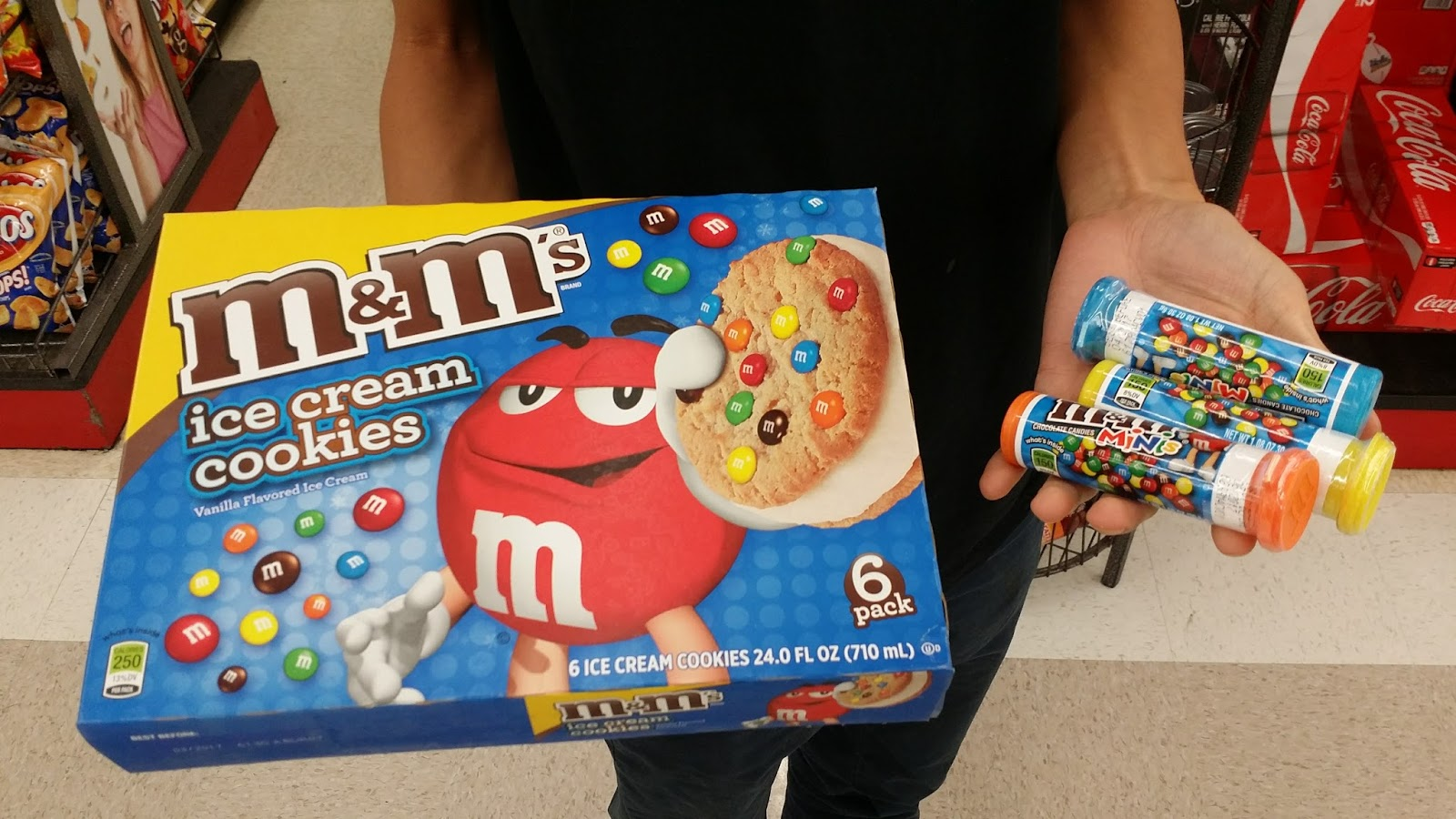 When You Crave Supermarket M&M Ice Cream Sandwiches...