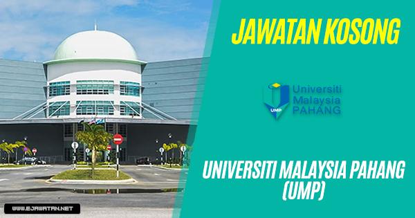 jawatan kosong Universiti Malaysia Pahang (UMP) 2018