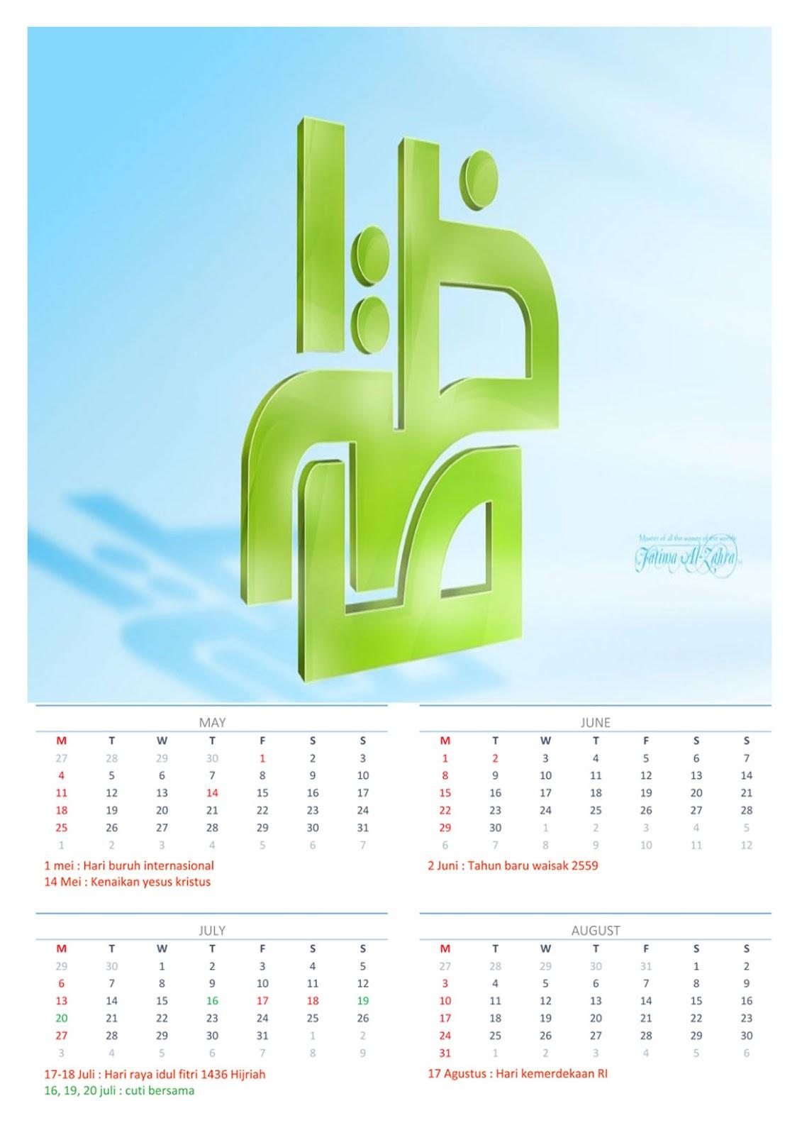 kalender 2015 beserta hari libur nasuonal