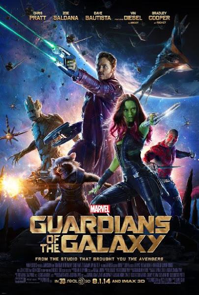 Poster Of Guardians Of The Galaxy 2014 720p Hindi BRRip Dual Audio Full Movie