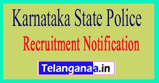 Karnataka State Police KSP Recruitment Notification 2017