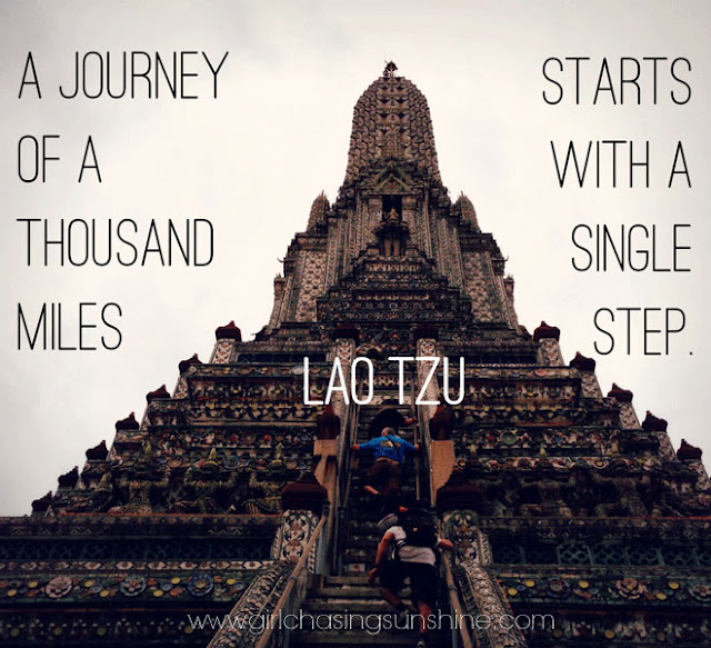 Travel Picture Quote A journey of a thousand miles starts with a single step by Lao Tzu