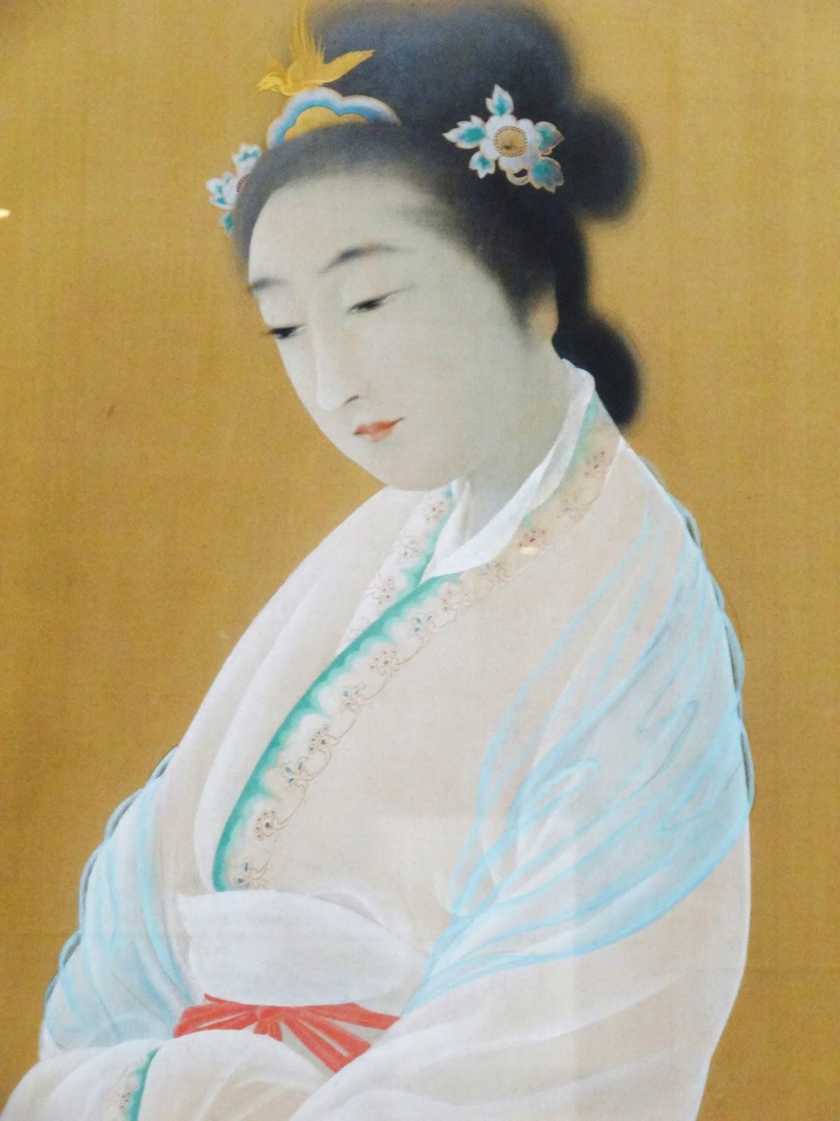 菱田春草《王昭君》部分、1902年、絹本彩色 肖像画工に賄賂を贈らず、清廉を貫いたために匈奴に嫁