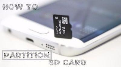 cara partisi sd card android