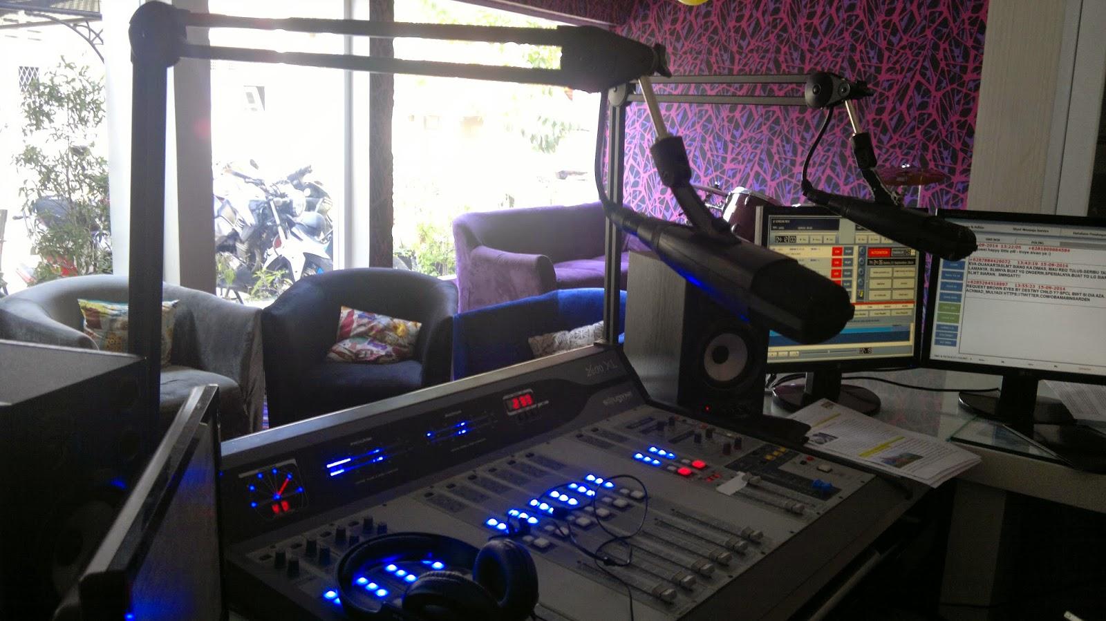 Radio Branding Materials On Air Studio 99ers 100 Fm Bandung 2014