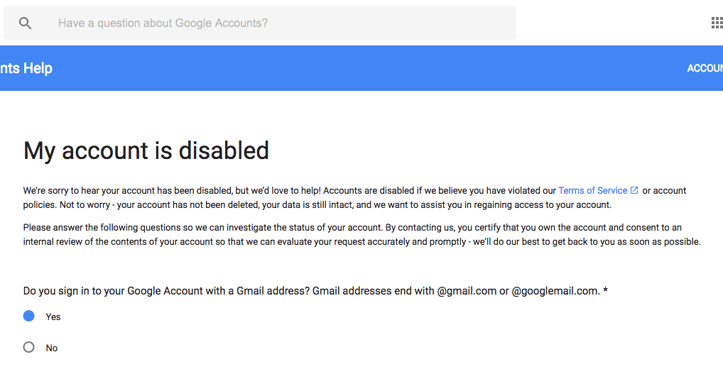How do I get my hacked Gmail account back?