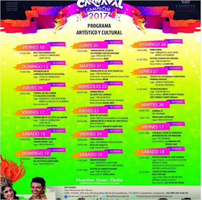 programa carnaval campeche 2017