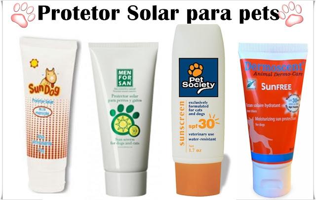protetor solar para pets