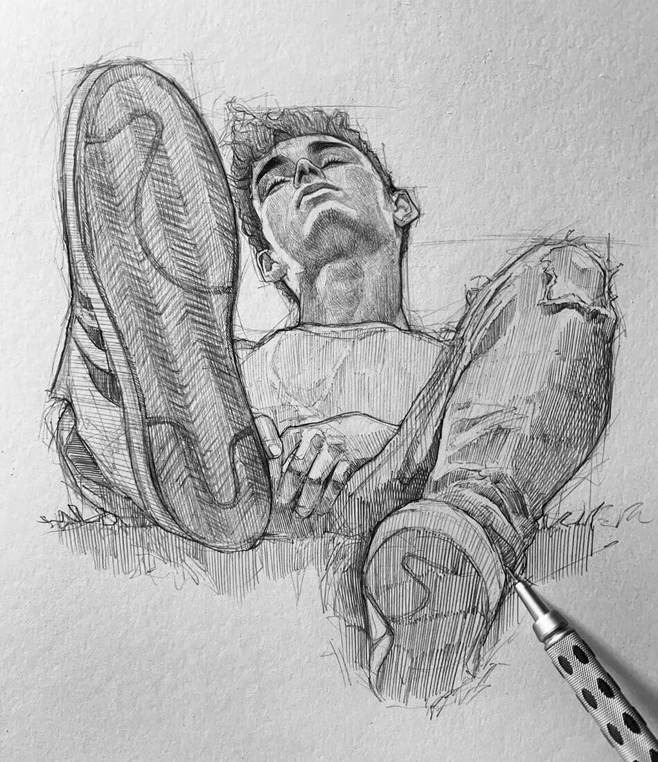 09-Efrain-Malo-12-Sketches-and-1-Realistic-Pencil-Portrait-www-designstack-co