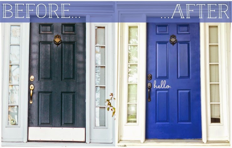 The florkens our front door makeover - Magnetic kick plates for exterior doors ...