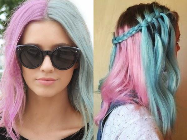 Resultado de imagem para cabelo unicornio tumblr