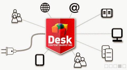 圖說: Desk Content Marketing 整合數位行銷與產品內容,圖片來源: 網站截圖