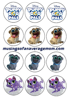 free puppy dog pals cupcake toppers