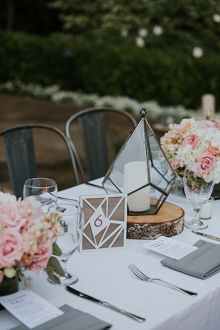 Geometric Garden Wedding At Franciscan Gardens Southern