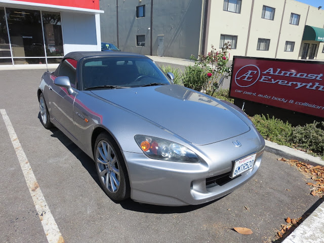 Collision repairs on Honda S2000.