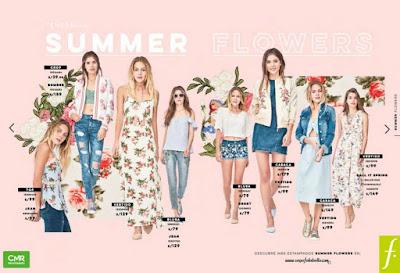 diseños florales ropa damas