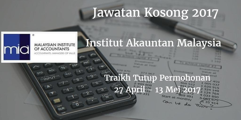 Jawatan Kosong MIA  27 April - 13 Mei 2017