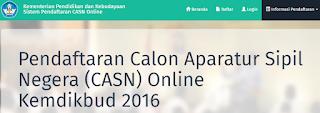 Pendaftaran CPNS Kemendikbud 2016