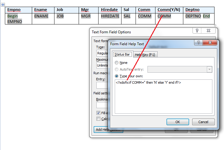 If then Else statement in BI/XML Publisher Reports - Oracle