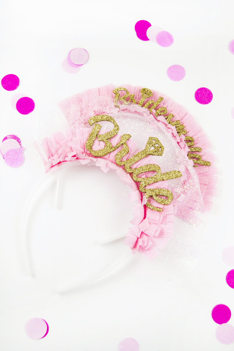 DIY bridal shower headband