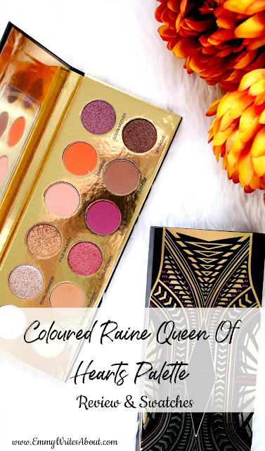 Coloured Raine Queen Of Hearts Eyeshadow Palette Swatches Review