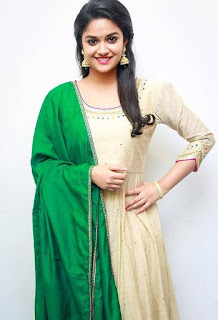 Keerthy Suresh in Wheat Color Dress with Cute and Lovely Smile 6