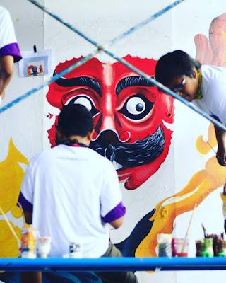 Lomba Ngalam Mural Festival kota Malang Flyover Arjosari