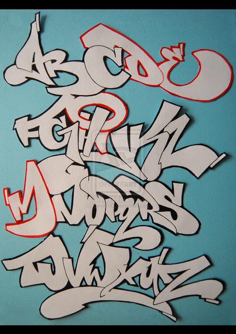 Graffiti Alphabet Block Style 3d Graffiti alpha - LOVE