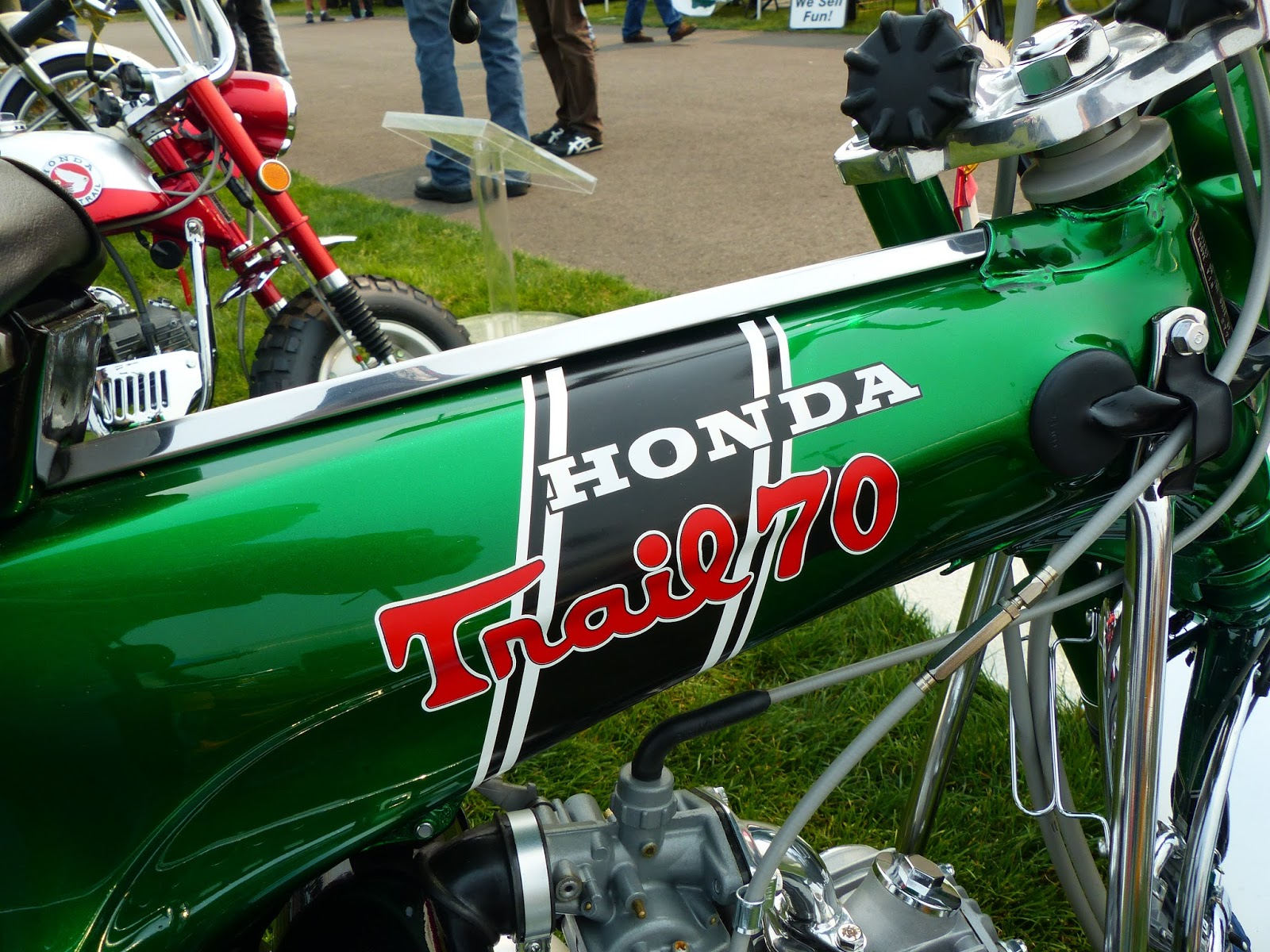 Oldmotodude 1970 Honda Ct70 On Display At The Meet 2015 Vintage Moped Motorcycle Festival Tacoma Wa
