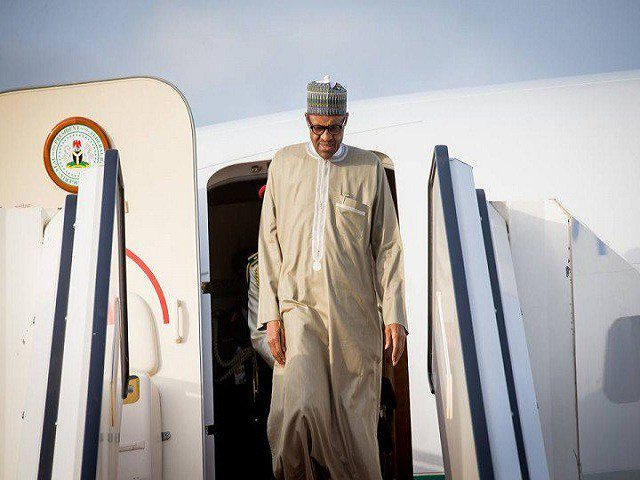 Pres.-Buhari-has-return-to-Nigeria-after-trip-to-London
