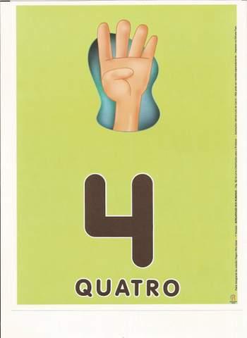 Cartazes de Numerais | Número quatro