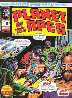 Planet of the Apes #4, Marvel UK