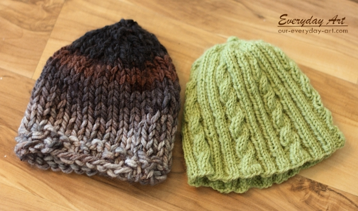 Everyday Art  Baby Knits  Chunky and Cabled Knit Hats 973147d1ae3
